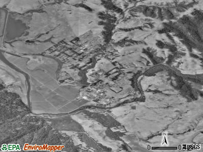 Point Reyes Station satellite photo by USGS