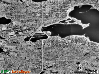 White Bear Lake satellite photo by USGS