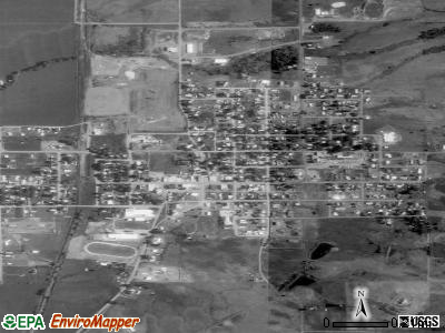 Council satellite photo by USGS