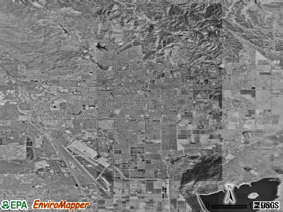 Moreno Valley satellite photo by USGS