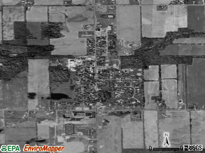 Onsted satellite photo by USGS