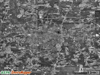 Marshall satellite photo by USGS