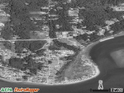 Priest Point satellite photo by USGS