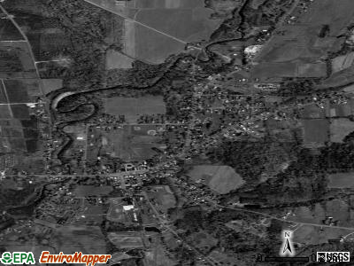 Forestville satellite photo by USGS