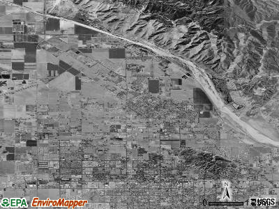 San Jacinto satellite photo by USGS