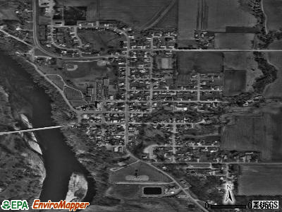 Gilbertville satellite photo by USGS