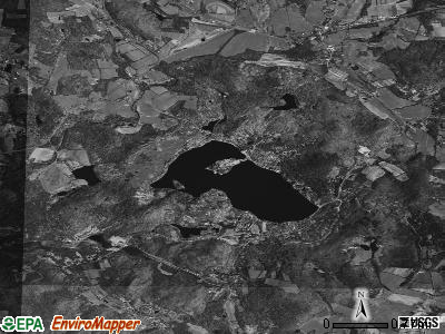 Copake Lake satellite photo by USGS