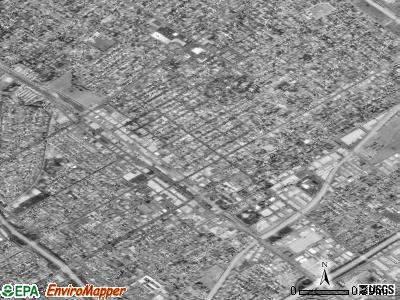 San Fernando satellite photo by USGS