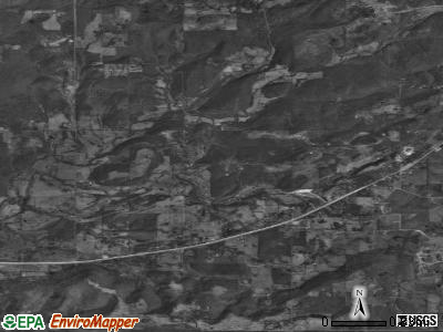 Woodall satellite photo by USGS