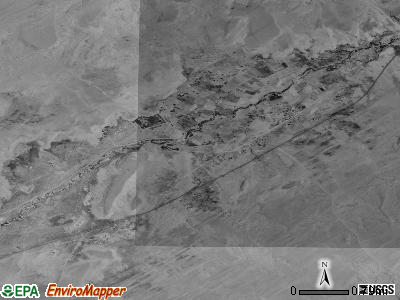 Dennehotso satellite photo by USGS