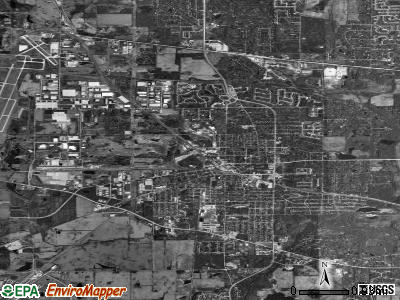 West Chicago satellite photo by USGS