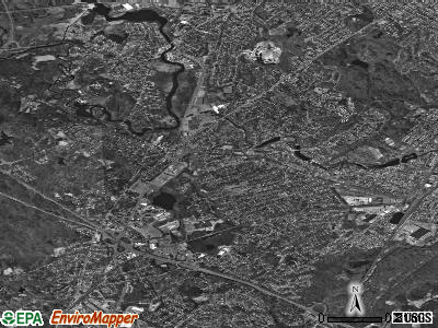 Dedham satellite photo by USGS