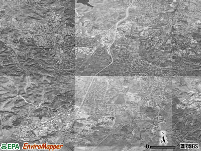 Brentwood satellite photo by USGS