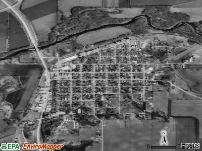 Sioux Rapids satellite photo by USGS