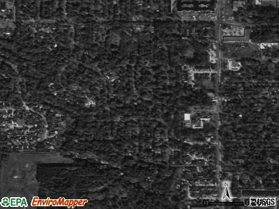 Normangee satellite photo by USGS
