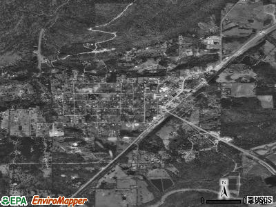 Clayton satellite photo by USGS