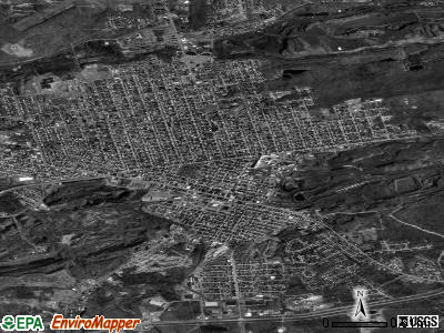 Hazleton satellite photo by USGS
