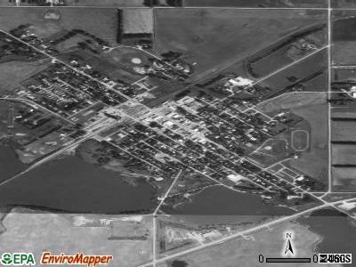 Milnor satellite photo by USGS