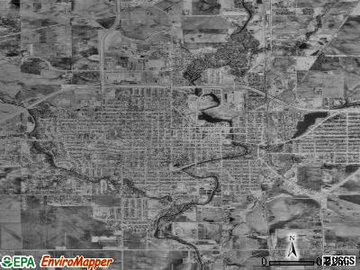 Austin satellite photo by USGS