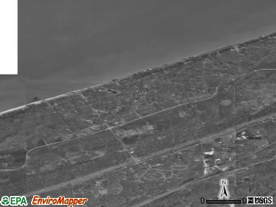 Beverly Shores satellite photo by USGS
