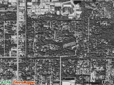 Melbourne Village satellite photo by USGS