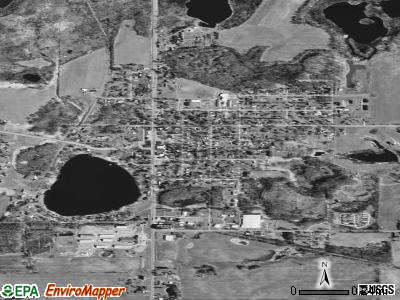 Sheridan satellite photo by USGS