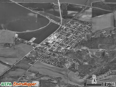 Chandlerville satellite photo by USGS