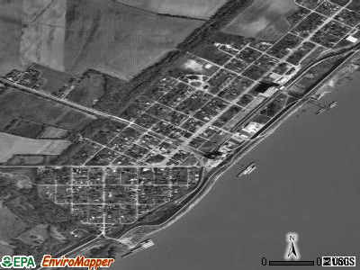 Mound City satellite photo by USGS
