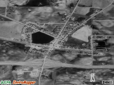 Alden satellite photo by USGS