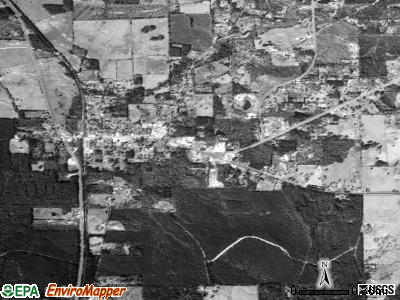 Zavalla satellite photo by USGS