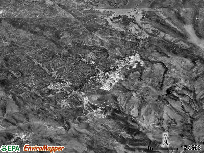 Yarnell satellite photo by USGS
