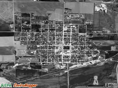 Beaver City satellite photo by USGS