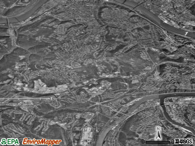 West Mifflin satellite photo by USGS