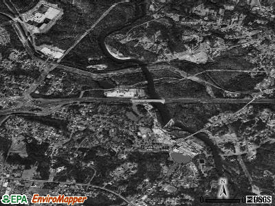 McAdenville satellite photo by USGS