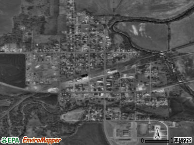 Canton satellite photo by USGS