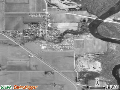 Palo satellite photo by USGS