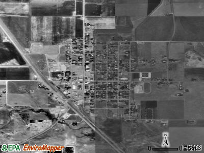 Downey satellite photo by USGS