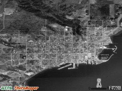 Bayfield satellite photo by USGS