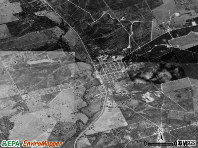 Pettus satellite photo by USGS