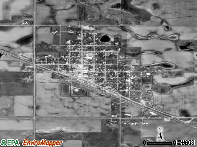 Bridgewater satellite photo by USGS