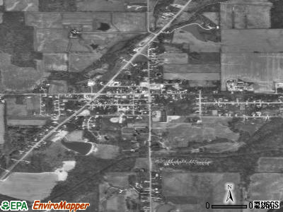 Zanesville satellite photo by USGS