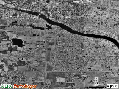Champlin satellite photo by USGS