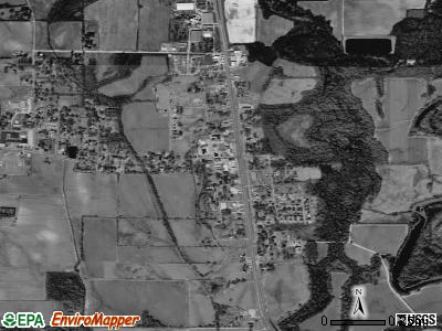 Mangham satellite photo by USGS