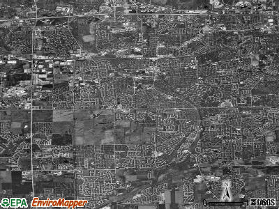 Naperville satellite photo by USGS