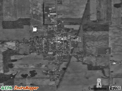 Waldron satellite photo by USGS
