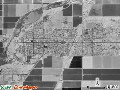 Brawley satellite photo by USGS