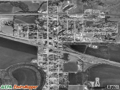 Strong City satellite photo by USGS
