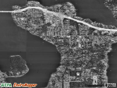 Mercer Island satellite photo by USGS
