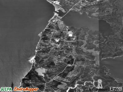 Deal Island satellite photo by USGS