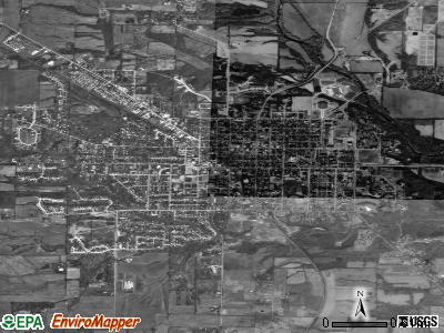 Oxford satellite photo by USGS